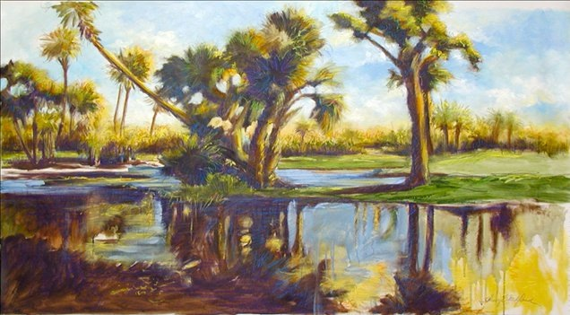 """Wild Dunes Lagoon"" oils. Original available @ Thibault Gallery Beaufort SC"