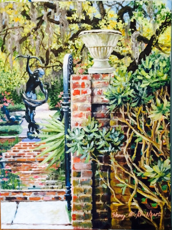 """Diana's Garden"" Giclee on Canvas 18 x 24'"