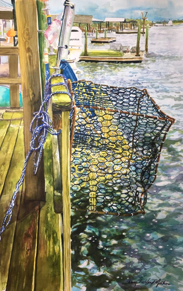 Crabbing the Stono original available @ Thibault Gallery, Beaufort, SC