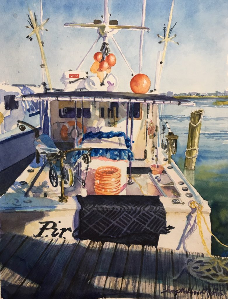 Early Inlet Evening original available @ Thibault Gallery, Beaufort, SC
