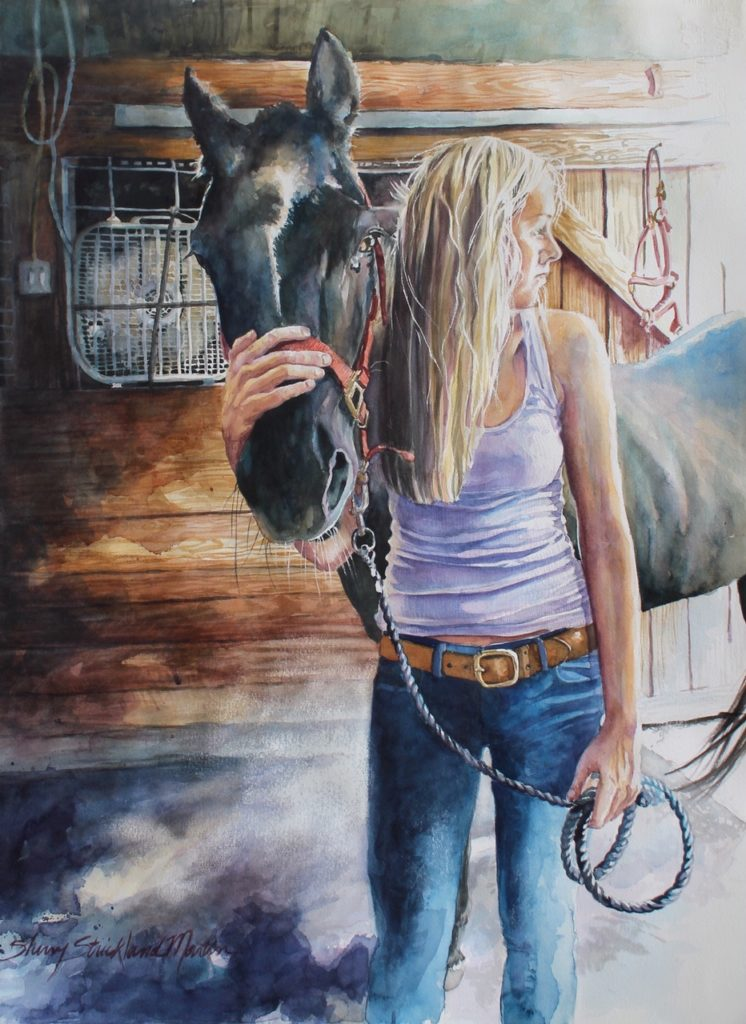 "SOLD ""Lawson's Maggie"" watercolor 22"" x 30"""