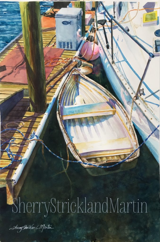 """Dockside Georgetown"" Watercolor c. 2018 Original available @ Thibault Gallery, Beaufort SC"
