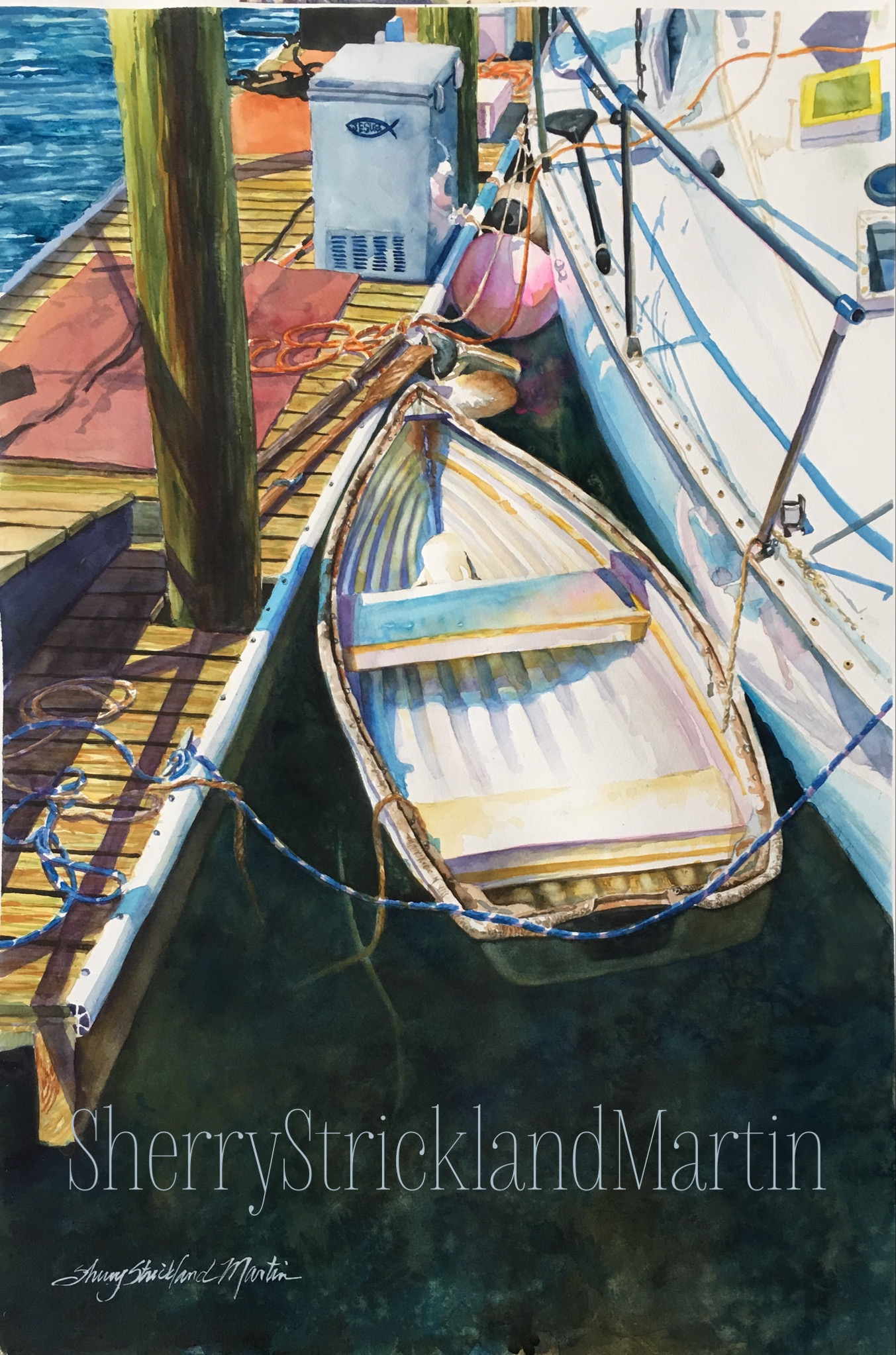 """Dockside Georgetown"" Watercolor c. 2018 Original available @ Art Harbor Gallery, Georgetown, SC"