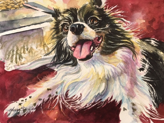 "Jordy. watercolor 8""x 10"""