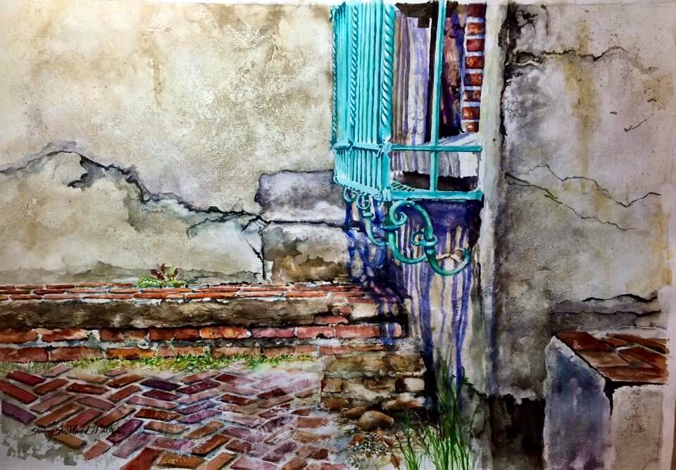 """Atalaya, Oh Atalaya"" Giclee on watercolor paper"